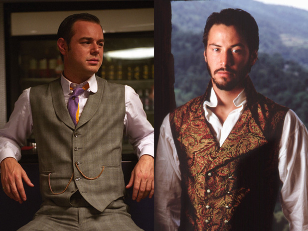 Danny Dyer and Keanu Reeves as Don Jon in Much Ado About Nothing