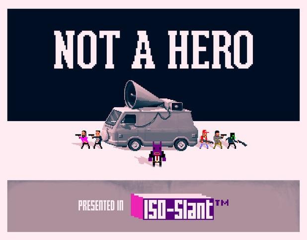 Teaser art for Not a Hero