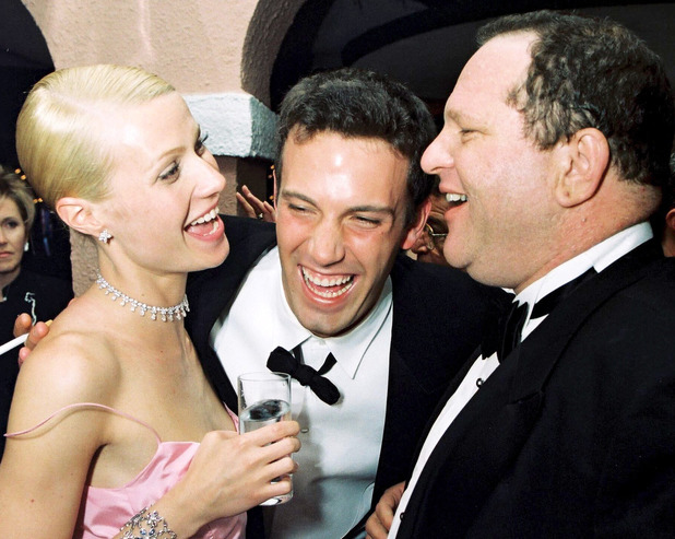 ACADEMY AWARDS, LOS ANGELES, AMERICA - 1999 Gwyneth Paltrow, Ben Affleck and Miramax's Harvey Weinstein at the Miramax post Oscar party. 1999