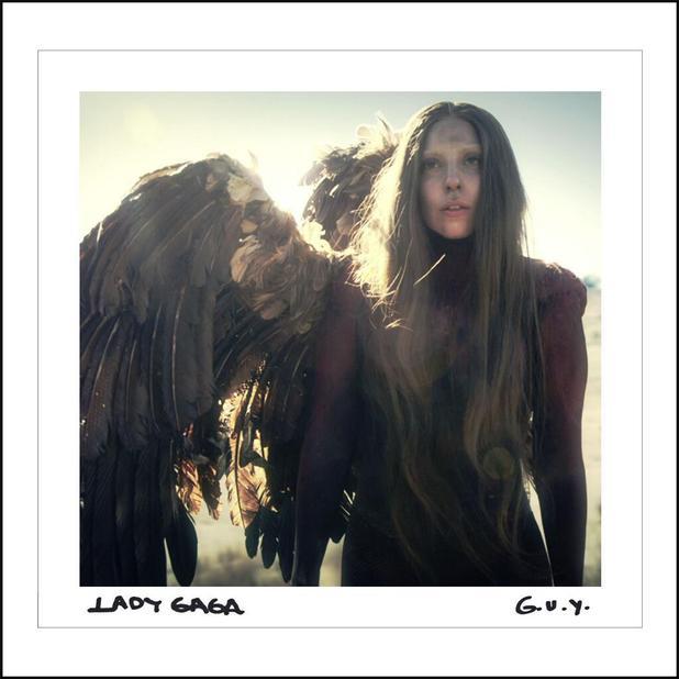 Lady Gaga 'G.U.Y' single artwork.