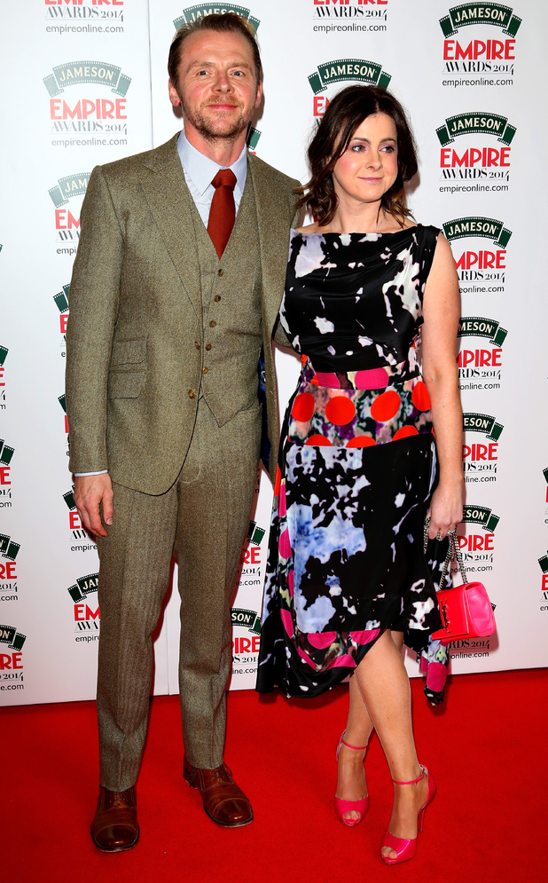 Empire Awards: Simon Pegg and Maureen Pegg