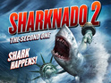 Sharknado 2: The Second One producers say scene will have sharks and chainsaws.