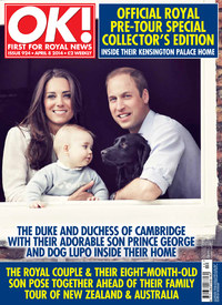 The Duke and Duchess of Cambridge on the cover of OK! magazine