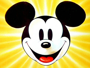 Disney's Mickey Mouse logo.
