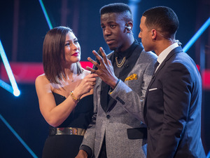 Jermain Jackman talks to Emma and Marvin after his victory