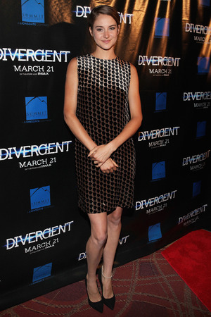 Caption:CHICAGO, IL - MARCH 04: Actress Shailene Woodley poses for photos on the red carpet for the 'Divergent' screening at Kerasotes Showplace ICON on March 4, 2014 in Chicago, Illinois. (Photo by Raymond Boyd/Getty Images)