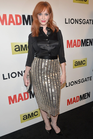 Caption:HOLLYWOOD, CA - APRIL 02: Actress Christina Hendricks attends the AMC celebration of the 'Mad Men' season 7 premiere at ArcLight Cinemas on April 2, 2014 in Hollywood, California. (Photo by Alberto E. Rodriguez/Getty Images)