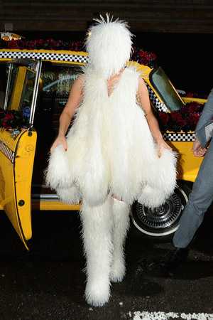 NEW YORK, NY - MARCH 30: Lady Gaga arrives at Roseland Ballroom on March 28, 2014 in New York City. (Photo by Theo Wargo/Getty Images)