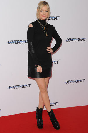 LONDON, ENGLAND - MARCH 30: Laura Whitmore attends the European premiere of 'Divergent' at Odeon Leicester Square on March 30, 2014 in London, England. (Photo by Dave J Hogan/Getty Images)