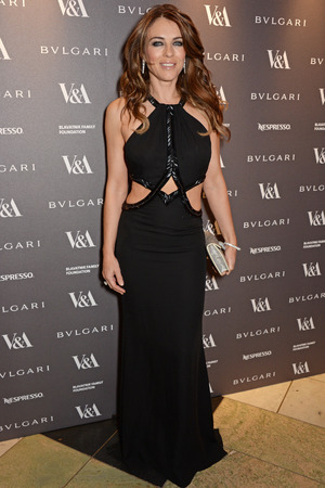 LONDON, ENGLAND - APRIL 01: Liz Hurley attend a private dinner celebrating the Victoria and Albert Museum's new exhibition 'The Glamour Of Italian Fashion 1945 - 2014' at Victoria and Albert Museum on April 1, 2014 in London, England. (Photo by David M. Benett/Getty Images)