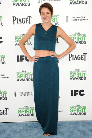 Caption:SANTA MONICA, CA - MARCH 01: Actress Shailene Woodley attends the 2014 Film Independent Spirit Awards on March 1, 2014 in Santa Monica, California. (Photo by Jason LaVeris/FilmMagic)