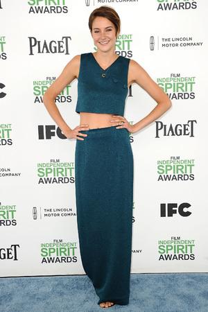 Caption:SANTA MONICA, CA - MARCH 01: Actress Shailene Woodley attends the 2014 Film Independent Spirit Awards on March 1, 2014 in Santa Monica, California. (Photo by Jason LaVeris/FilmMagic)