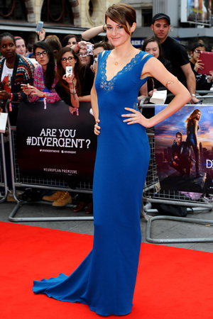 LONDON, ENGLAND - MARCH 30: Shailene Woodley attends the European premiere of 'Divergent' at Odeon Leicester Square on March 30, 2014 in London, England. (Photo by Anthony Harvey/Getty Images)