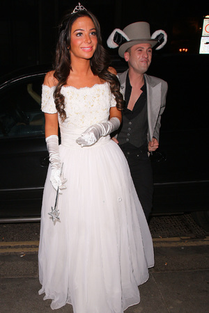 Tulisa attends Rochelle Humes' Disney themed birthday party at Steam and Rye restaurant and club on March 29, 2014 in London, England.
