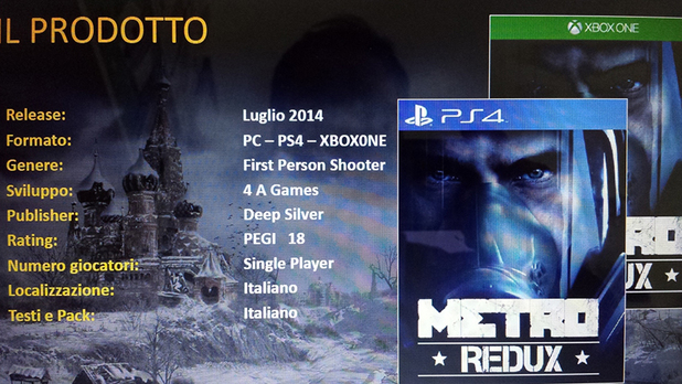Leaked information about Metro Redux