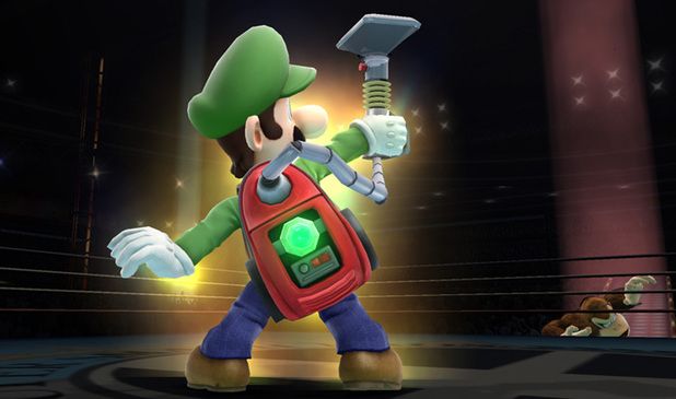 Luigi and his Poltergust vacuum