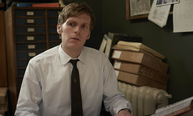Shaun Evans as Endeavour in Endeavour, series 2 episode 2