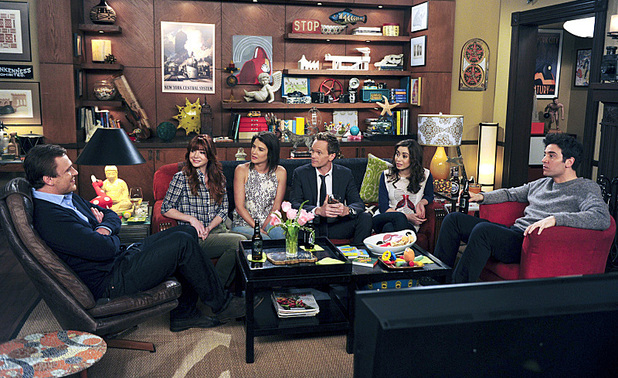Jason Segel as Marshall, Alyson Hannigan as Lily, Cobie Smulders as Robin, Neil Patrick Harris as Barney, Cristin Milioti as Tracy & Josh Radnor as Ted in the How I Met Your Mother season finale: 'Last Forever Parts One and Two'