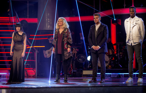 The Voice finalists Christina Marie, Sally Barker, Jamie Johnson and Jermain Jackman