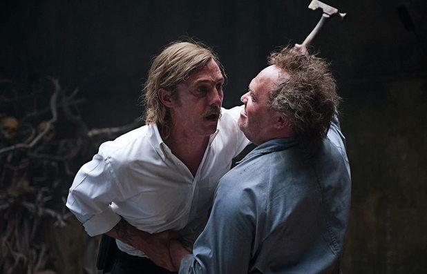 Matthew McConaughey and Glenn Fleshler in True Detective