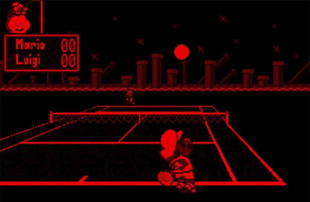 Mario Tennis on Nintendo Virtual Boy