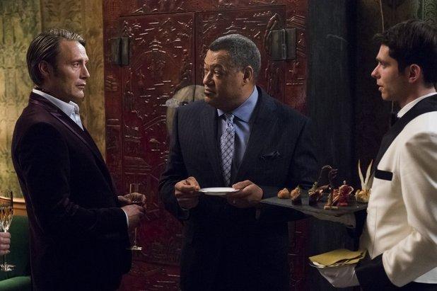 Mads Mikkelsen and Laurence Fishburne in Hannibal episode 6 'Futamono'