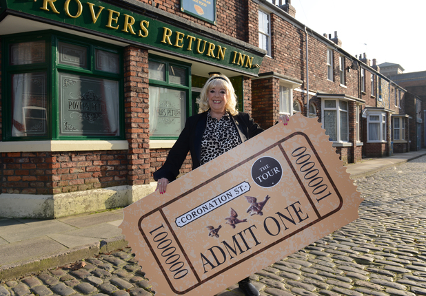 Julie Goodyear promotes the Coronation Street tour