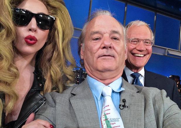 Bill Murray's selfie with Lady Gaga and David Letterman