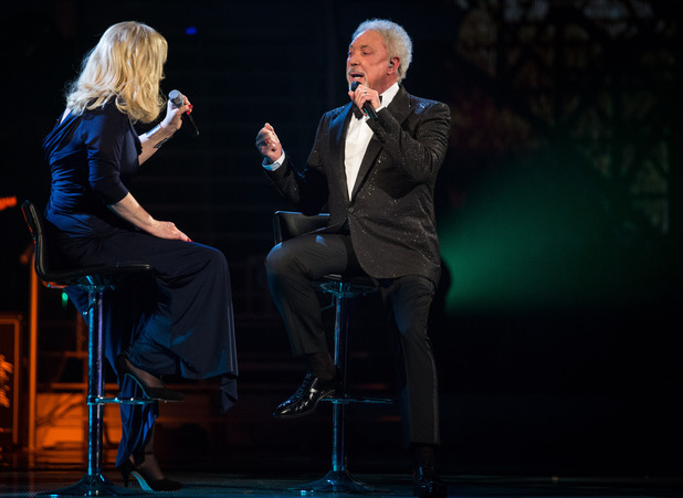 The Voice finalist Sally Barker sings 'Walking in Memphis' with Sir Tom Jones