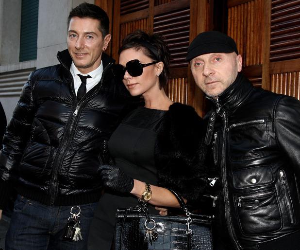 Stefano Gabbana, Victoria Beckham and Domenico Dolce