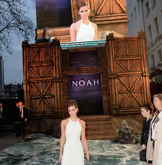 LONDON, ENGLAND - MARCH 31: Actress Emma Watson attends the UK Premiere of 'Noah' at the Odeon Leicester Square on March 31, 2014 in London, England. (Photo by Dave J Hogan/Getty Images for Paramount Pictures International)
