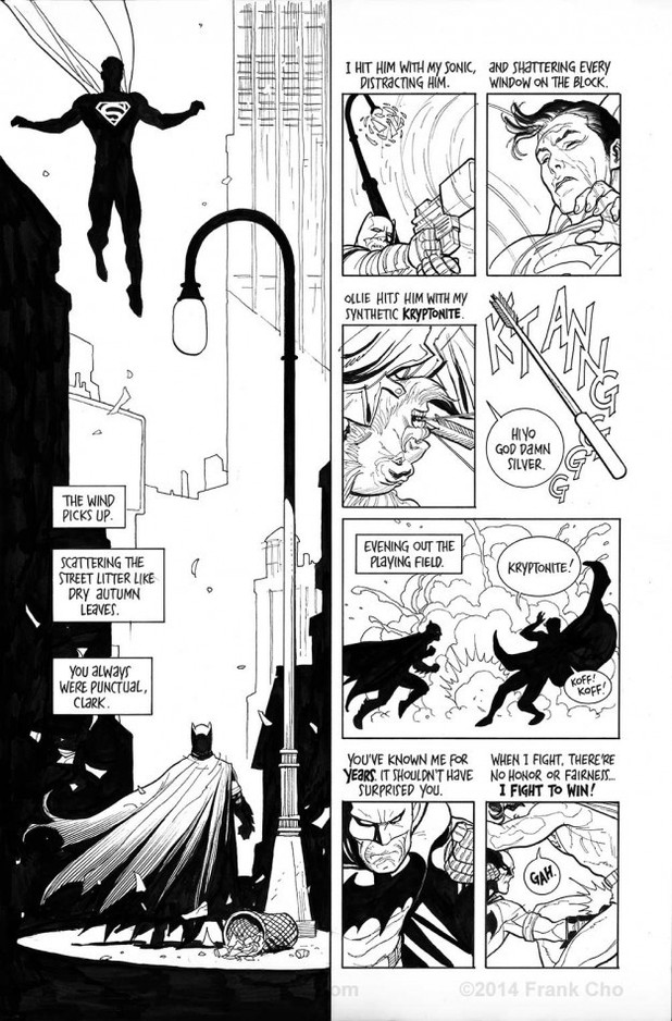 Frank Cho's Batman/Superman fight