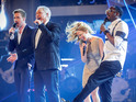 The Voice coaches Ricky, Tom, Kylie and will.i.am perform 'Rocks' by Primal Scream