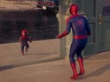 The Evian short focuses on Spider-Man and his younger self.