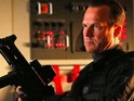 Bill Paxton's SHIELD agent John Garrett is in serious trouble while in flight.