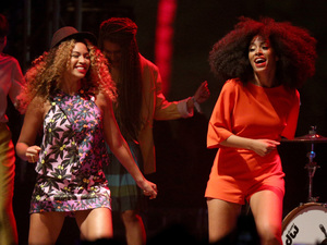 Beyonce and Solange Knowles at Coachella