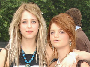 Peaches and Pixie Geldof, daughters of Sir Bob Geldof attend 'Live 8 London' in Hyde Park on July 2, 2005