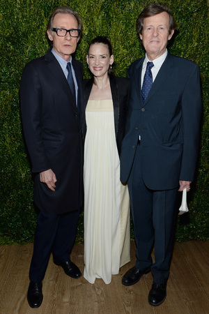 NEW YORK, NY - APRIL 07: (L-R) Actor Bill Nighy, Winona Ryder and David Hare attend the Vogue & The Cinema Society screening of 'Turks and Caicos' at the Crosby Street Hotel on April 7, 2014 in New York City. (Photo by Dimitrios Kambouris/WireImage)