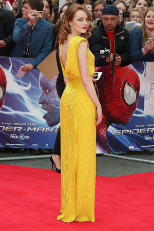 LONDON, ENGLAND - APRIL 10: Emma Stone attends the World Premiere of 'The Amazing Spider-Man 2' at Odeon Leicester Square on April 10, 2014 in London, England. (Photo by Tim P. Whitby/Getty Images)