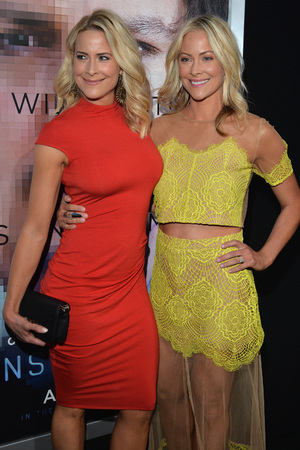 WESTWOOD, CA - APRIL 10: Actresses Brittany Daniel and Cynthia Daniel attend the premiere of Warner Bros. Pictures and Alcon Entertainment's 'Transcendence' at Regency Village Theatre on April 10, 2014 in Westwood, California. (Photo by Lester Cohen/Getty Images)