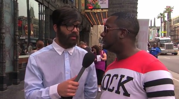Drake in disguise on the streets of Hollywood