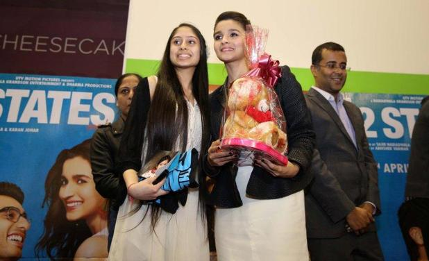 Alia Bhatt and the contest winner
