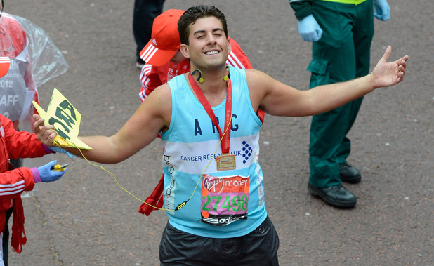 James 'Arg' Argent completes the Virgin London Marathon in 2012