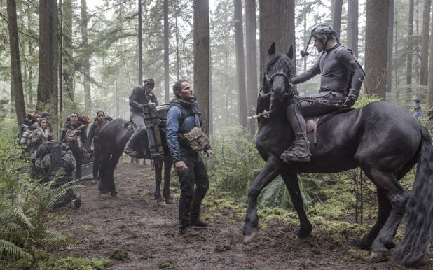 Jason Clarke, Andy Serkis in Dawn of the Planet of the Apes