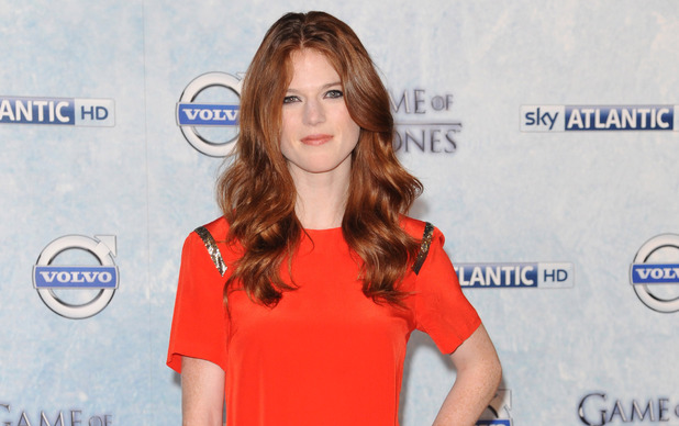 Rose Leslie attends the Season 4 premiere of 'Game of Thrones' at The Guildhall