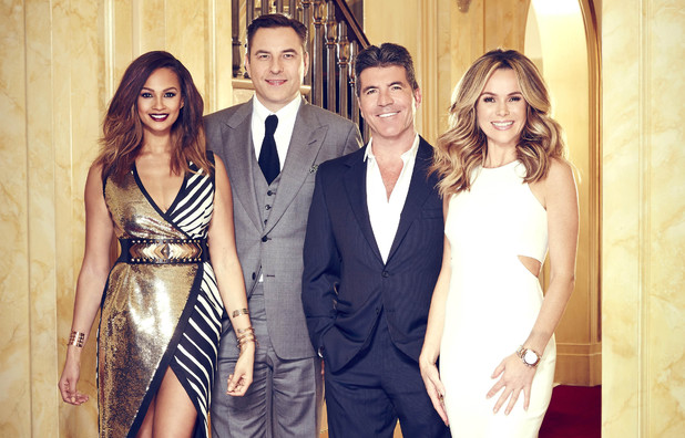 Britain's Got Talent judges Alesha Dixon, David Walliams, Simon Cowell, Amanda Holden