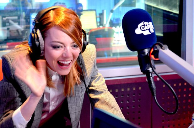 Emma Stone reacts to Mel C call on Capital FM