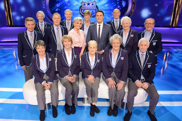 Angela Rippon, Paddy McGuinness and the Amazing Greys