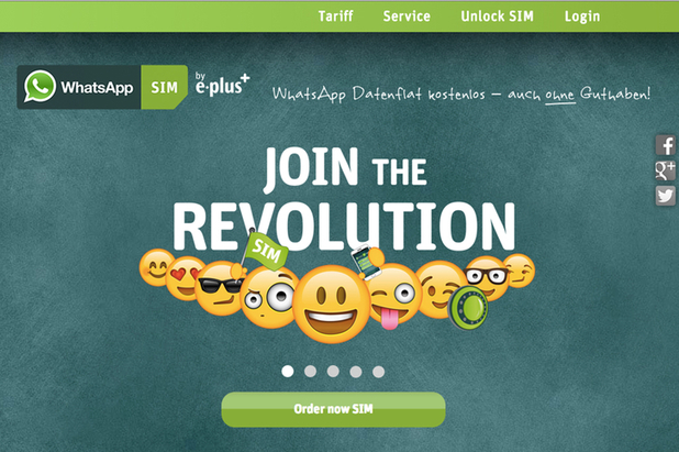 WhatsApp has teamed up with e-Plus to launch its own SIM card