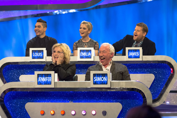 Louis Smith, Emilia Fox, James Corden, Jennifer Saunders and Simon Callow on The Guess List